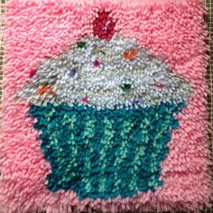 Cupcake rug I make latch hook rugs. All rugs are brand new!! 12 in. x 12 in. rug. I will have more rugs available. Accessories