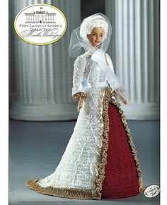 annie's attic first ladies of america collection | ... First Ladies of America Collection Fashion Doll Crochet Pattern Annies