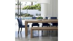 Shop Big Sur Smoke Dining Tables.   Each dining table will display its own unique character, revealed in naturally occurring splits, cracks and knots, and in its intricate, narrow grain produced by a colder climate.