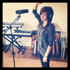 Christina Grimmie in the studioz... find her at youtube.com/zeldaxlove64