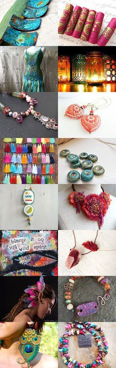 bohemian treasures by Monta Stanevica on Etsy--Pinned with TreasuryPin.com