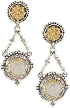 Konstantino Erato Floral Amethyst Doublet Drop Earrings 5gBRw8