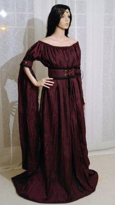 medieval renaissance ELVEN FAIRY hobbit  dress custom made
