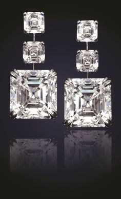 b64db9ec6 24.81 Carat Asscher-cut diamond earrings. The bottom match pair totals at  20.47 total