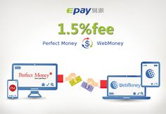 Epay.com: Cheapest fee for E-currency exchange, Best price for Buying & Selling Perfect Money, Webmoney on Epay.   1.Perfect Money to WebMoney → 1.5% fee 2.WebMoney to Perfect Money →1.5% fee Epay is a legal online platform with PCI &DSS certificate.