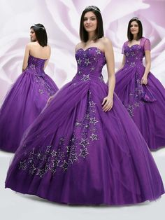 Online Sale Absorbing Ball Gown Design Purple Beading Wholesale Prom Dress (CT-026)