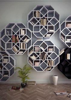 Étagères design. Inspiration des motifs des vitraux de l'art de l'Islam?