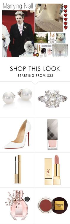 """""""Marrying Niall (Requested)"""" by one-direction-outfitsxxx ❤ liked on Polyvore featuring Mikimoto, Graff, Christian Louboutin, Burberry, Dolce&Gabbana, Viktor & Rolf, Tom Ford, women's clothing, women and female"""