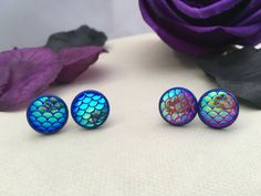 Mermaid Tail Stud Earrings. Gift For Her by LittleAlsAccessories