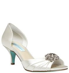 This sweet little peep-toe from Blue by Betsey Johnson is a lovely little bridal shoe...something blue included! #somethingblue #weddingshoes
