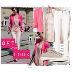 Pink Blazer #2dayslook #jamesfaith712 #sasssjane #PinkBlazer #ramirez701  www.2dayslook.com How To Wear Hoodies, How To Wear Vans, What To Wear, Converse, Pink Suit, Summer Outfits, Summer Clothes, How To Wear Scarves, Blazer Outfits