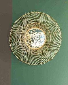 Sunny - Sunburst Mirror, Gold Metal Frame, Dia:86cm | Free Delivery Hallway Mirror, Autumn 2017, Sunburst Mirror, Metal Mirror, Metal Mesh, Free Delivery, Contemporary Design, Sunnies, Decorative Plates
