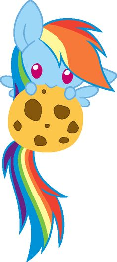 Cookie!  A squee- inducing Rainbow Dash. <3