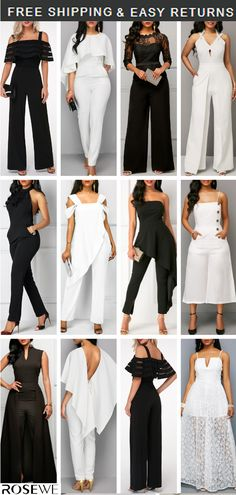 Our 2019 Spring&Summer guide is here! White Jumpsuit & Black […] The post White Jumpsuit & Black Jumpsuit. Our 2019 Spring&Summer guide is here! appeared first on How To Be Trendy. Black Jumpsuit Outfit, White Jumpsuit, White Outfits, Cool Outfits, Fashion Outfits, Womens Fashion, Wedding Jumpsuit, Elegant Outfit, Jumpsuits For Women