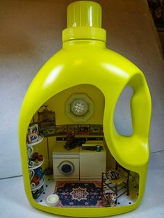 Laundry room in a laundry soap bottle by Gracie Oliver arts