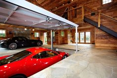 Wooden garage. Nice place to park your ride (nice ride too btw).