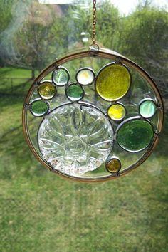 Glass Dish Stained Glass Suncatcher by sawtoothstainedglass
