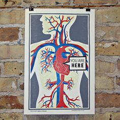 Image of You Are Here Letterpress Print