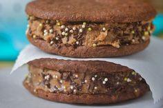 Mocha Ice Cream Sandwiches: gluten free and vegan
