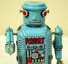 This wind up robot toy is well designed and crafted for adult. High imitation robot with clockwork. Wind him up, he walks with lovely moves. This robot model is a perfect collectible gift for adult. Metal Robot, Metal Toys, Tin Toys, Vintage Robots, Vintage Tins, Vintage Style, Vintage Metal, Vintage Art, Atomic Decor