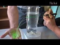 ▶ Bending the light - physics experiment - YouTube