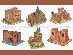 Six Vintage #Papercraft #Castles | Tektonten Papercraft