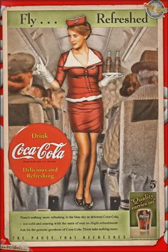 Today's airbrushed style pinup photo features Kirsten in this Coca Cola themed advertisement! From the 1930s into the 1940s, Coca Cola pushed the Coca Cola Girl into their advertising quite heavily. This retro advertisement is part of the ongoing Coca Cola original ad recreations. The colors, fonts, language, and graphics of these have been very carefully researched and recreated to match the original style. © Dietz Dolls: www.dietzdolls.com || Facebook…