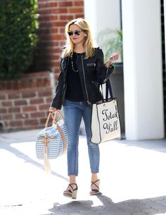 """Reese Witherspoon Carries Hilarious """"Totes Y'all"""" Bag from Her Draper James Line from InStyle.com"""