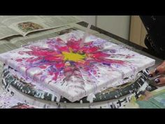 Flowering Acrylic and then a pour....and then..... - YouTube