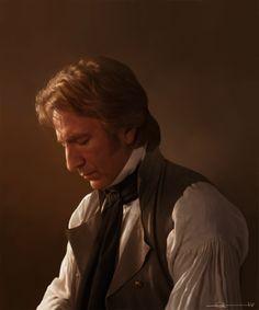 Alan Rickman as Colonel Brandon, Sense & Sensibility.