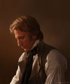 Alan Rickman as Colonel Brandon, Sense & Sensibility.