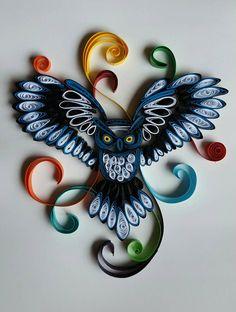 Buho de tubulares por BlueberrySwirlz en Etsy