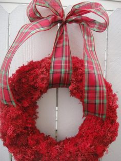 Christmas Wreath Holiday Wreath Moss Wreath Memorial Day Wreath July Independence Day by donnahubbard on Etsy Moss Wreath, Twig Wreath, Floral Wreath, Christmas Arrangements, Christmas Centerpieces, Christmas Decorations, Autumn Wreaths, Holiday Wreaths, Square Wreath