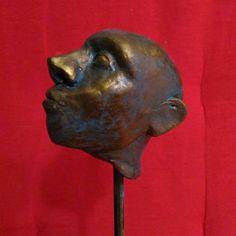 "Lorenzo Sammartino ""The Martian Chronicles - #finished #polymeric #clay #model #acrylic #paint #aged #bronze #head…"""