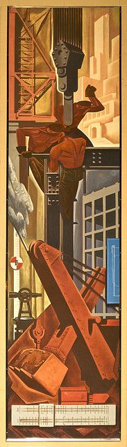 """Construction, Design Exchange,  Charles Comfort by colros, via Flickr"""