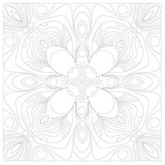 A page from Fractal Designs 1 by Zelibar Art. This new adult coloring book has beautiful geometric designs and unique mandalas with pale outlines that disappear into the artwork after you color!