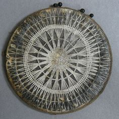 ANTIQUE PEARSALLS LACE TABLET FOR MAKING TENERIFFE LACE - PIN CUSHION / WHEEL | eBay