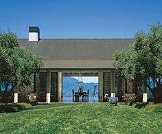 item1: Architectural Digest (Napa House in June 2005 AD) Love the sliding doors on both sides to create a breezeway and share views.