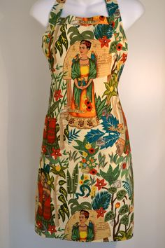 Frida Kahlo garden apron. #frida