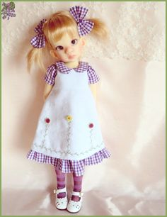 Playing at Home Dress for Kaye Wiggs Talyssa Mei Mei MSD BJD | eBay end 2/4/14