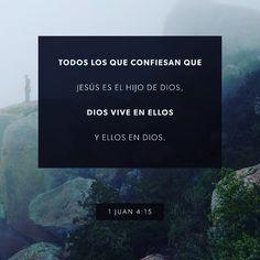 Si alguien reconoce que Jesucristo es el Hijo de Dios queda íntimamente unido a Dios como si fuera una sola persona con él. 1 Juan 4:15 @youversion @ibvcp #buenosdias #islademargarita #venezuela