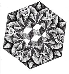 mandala dotwork by unpl4yed.deviantart.com on @deviantART