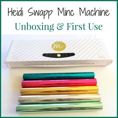 My Heidi Swapp Minc Machine arrived, hooray! If you don't know about this machine already then...