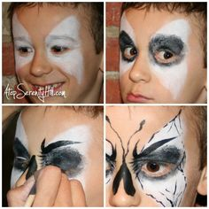 Butterfly face painting for boys • AtopSerenityHill.com - just in case a boy asks for a butterfly...