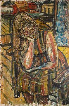Anne by John Randall Bratby Portrait Art, Portrait Paintings, Portraits, John Bratby, American Artists, British Artists, 60s Art, Social Realism, Whitney Museum