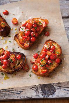 Wanneer ik in Italië ben, een ik altijd Tomato Bruschetta
