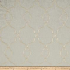 World Wide Faux Linen Sheer Merano Ivory/Ivory from @fabricdotcom  This faux linen sheer fabric has a linen like appearance with a beautiful stitched design. Perfect for draperies, swags, curtains and table top. Colors include ivory stitching on ivory.
