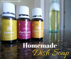 Easy DIY dish soap that works for oil and grease! #DIY #dishsoap #greencleaners