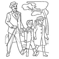 mary poppins coloring pages already colored | Mary Poppins | Disney coloring | Pinterest