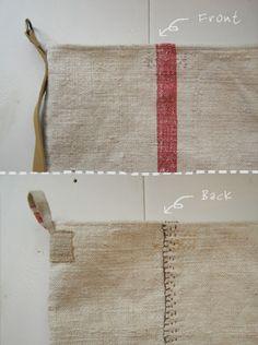 Koredeiinoda | fabrickaz + idees Tote Purse, Diy Purse, Handmade Bags, Handmade Handbags, Leather Work Bag, Textiles, Bag Making, Diy Bags, Linen Bag